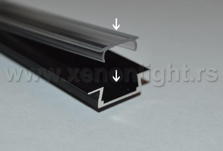 Aluminijumski led profil sa poklopcem na klik