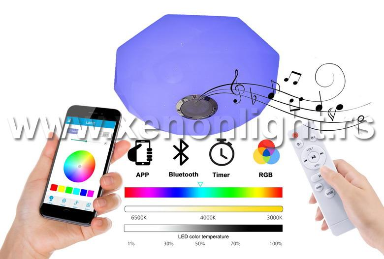Led Plafonjera-SC-H102F-IR WH-NW-WW-RGB + dalj.+ zvucnik